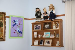 Picture rails and shelves